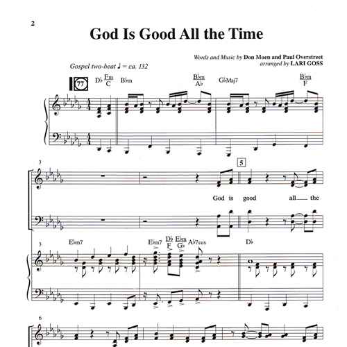 God Is Good All The Time Milestone Music